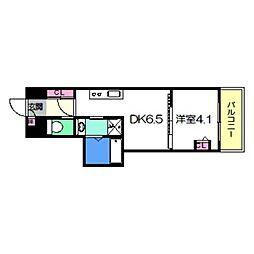 Osaka Metro御堂筋線 あびこ駅 徒歩8分の賃貸マンション 9階1DKの間取り