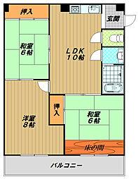 エクセルマンション長田[2階]の間取り