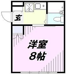埼玉県所沢市緑町3丁目の賃貸マンションの間取り