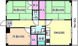 ハイコーポ京阪[2階]の間取り