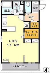 JR京浜東北・根岸線 さいたま新都心駅 徒歩13分の賃貸アパート 3階ワンルームの間取り