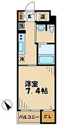 京王相模原線 京王堀之内駅 徒歩13分の賃貸マンション 4階1Kの間取り