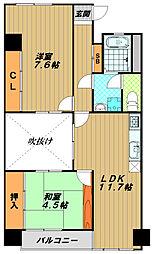 ウィング長田北町[4階]の間取り