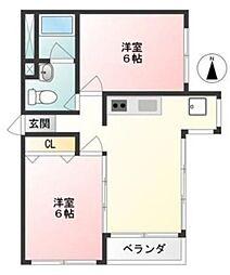 宮前平マンション[1階]の間取り