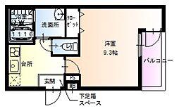 JR阪和線 百舌鳥駅 徒歩7分の賃貸アパート 2階1Kの間取り