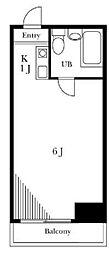 メゾンドヴェルサン[4階]の間取り