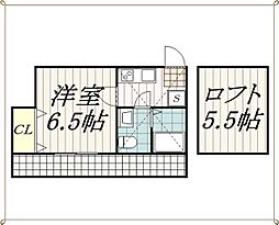 コンパートメントハウス千葉1[2階]の間取り