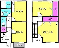 [テラスハウス] 兵庫県加古川市平岡町山之上 の賃貸【/】の間取り