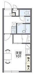 JR常磐線 天王台駅 徒歩7分の賃貸アパート 1階1Kの間取り