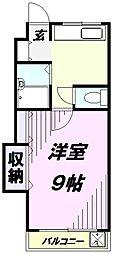 埼玉県所沢市若狭4丁目の賃貸マンションの間取り