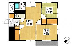 シエル神田[4階]の間取り