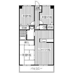 ルナパーク[2階]の間取り