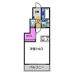 Osaka Metro御堂筋線 なかもず駅 徒歩12分の賃貸アパート 1階ワンルームの間取り