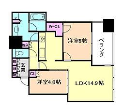 シティタワー大阪天満[5階]の間取り