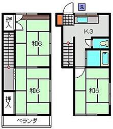 [テラスハウス] 神奈川県横浜市保土ケ谷区常盤台 の賃貸【/】の間取り