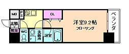 コンフォリア京町堀[6階]の間取り