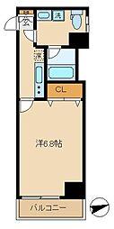 HOSOYA MANOR ONE 3階1Kの間取り
