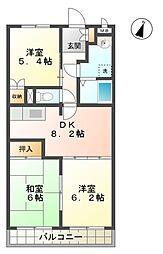 愛知県豊田市美山町1丁目の賃貸アパートの間取り