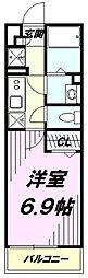 西武拝島線 武蔵砂川駅 徒歩8分の賃貸マンション 3階1Kの間取り