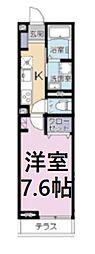 JR京浜東北・根岸線 さいたま新都心駅 徒歩9分の賃貸アパート 1階1Kの間取り