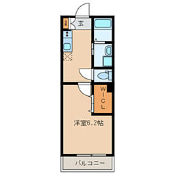 JR総武本線 船橋駅 徒歩7分の賃貸アパート 3階1Kの間取り