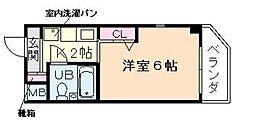 エスリード塚本第2[2階]の間取り