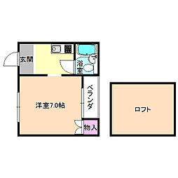 津田グリーンハイツ[1階]の間取り