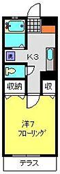 神奈川県横浜市磯子区西町の賃貸アパートの間取り