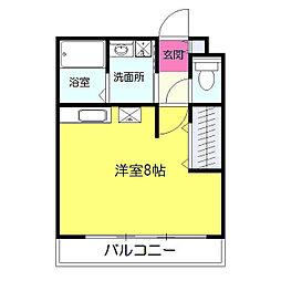 神奈川県横浜市緑区白山2丁目の賃貸アパートの間取り