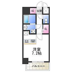 SOAR NAGAI 5階ワンルームの間取り