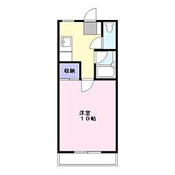 コーポ里村[305号室]の間取り