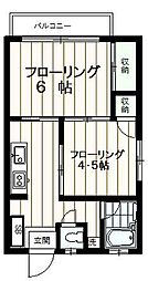 ハイツ金子[1階]の間取り
