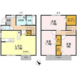 [一戸建] 兵庫県神戸市西区白水1丁目 の賃貸【/】の間取り