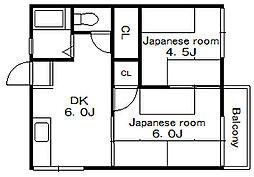 北島荘[2階]の間取り