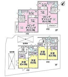 [テラスハウス] 神奈川県川崎市宮前区馬絹3丁目 の賃貸【/】の間取り
