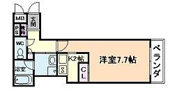 グランディT梅田[3階]の間取り