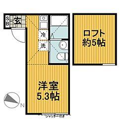 ランド横浜ウエスト[206号室]の間取り