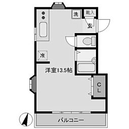 サンパール[2階]の間取り