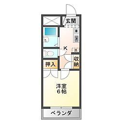 愛知県豊橋市柱四番町の賃貸アパートの間取り