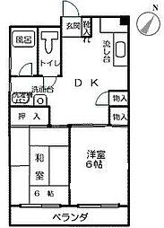 第6よしみビル[703号室]の間取り