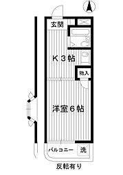 東京都練馬区桜台5丁目の賃貸マンションの間取り