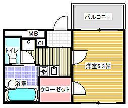 プルーズアネックス[2階]の間取り