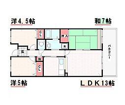 兵庫県神戸市西区井吹台東町4丁目の賃貸マンションの間取り