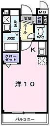 東武伊勢崎線 新越谷駅 徒歩7分の賃貸マンション 3階1Kの間取り
