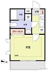 ピアコートTM練馬春日町弐番館 2階1Kの間取り