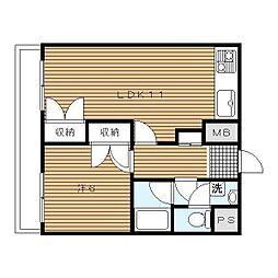 横浜山手センチュリーマンション[506号室]の間取り
