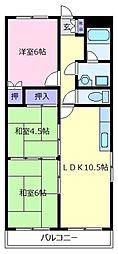 メゾン柴垣[4階]の間取り