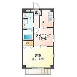 愛知県豊橋市花田町字小松の賃貸アパートの間取り