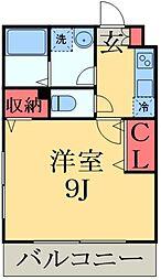 JR外房線 本千葉駅 徒歩10分の賃貸アパート 1階1Kの間取り