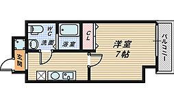 大阪府堺市堺区南瓦町の賃貸マンションの間取り